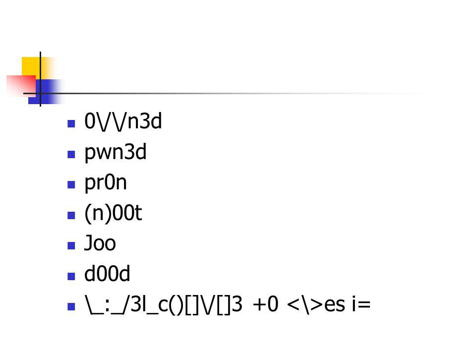 0\/\/n3d pwn3d pr0n (n)00t Joo d00d \_:_/3l_c()[]\/[]3 +0 es i=