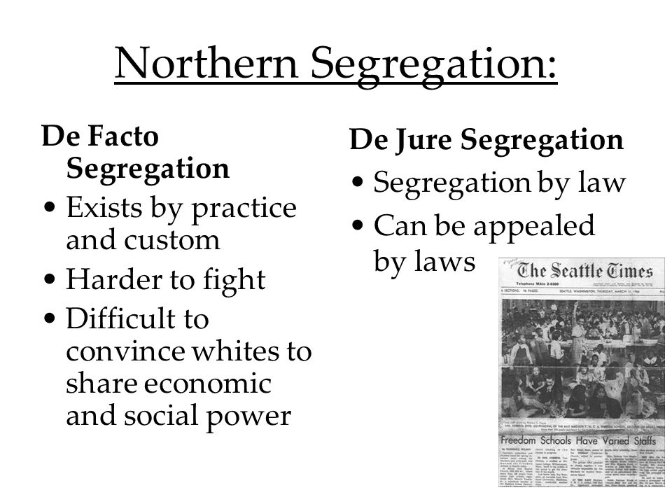 De Facto Segregation Intensified after WWII as A.A.