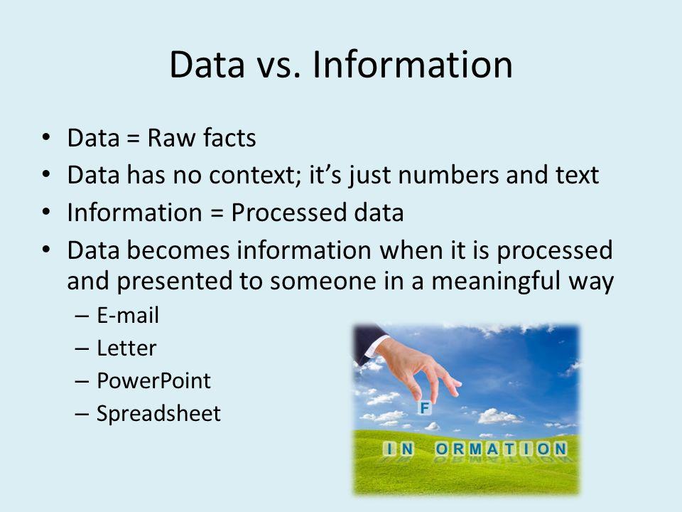 Data vs.
