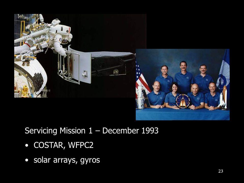 23 Servicing Mission 1 – December 1993 COSTAR, WFPC2 solar arrays, gyros