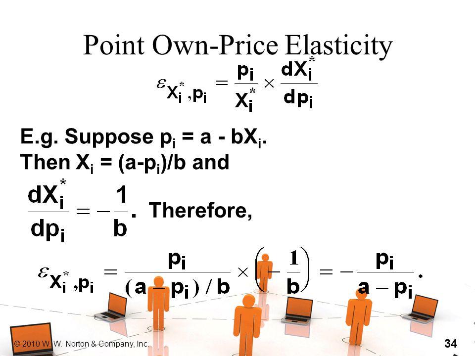 © 2010 W. W. Norton & Company, Inc. 34 Point Own-Price Elasticity E.g.