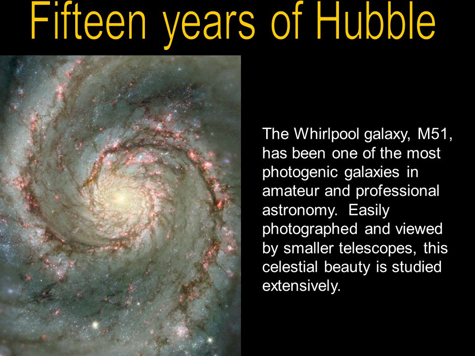 The Whirlpool galaxy, M51, has been one of the most photogenic galaxies in amateur and professional astronomy.