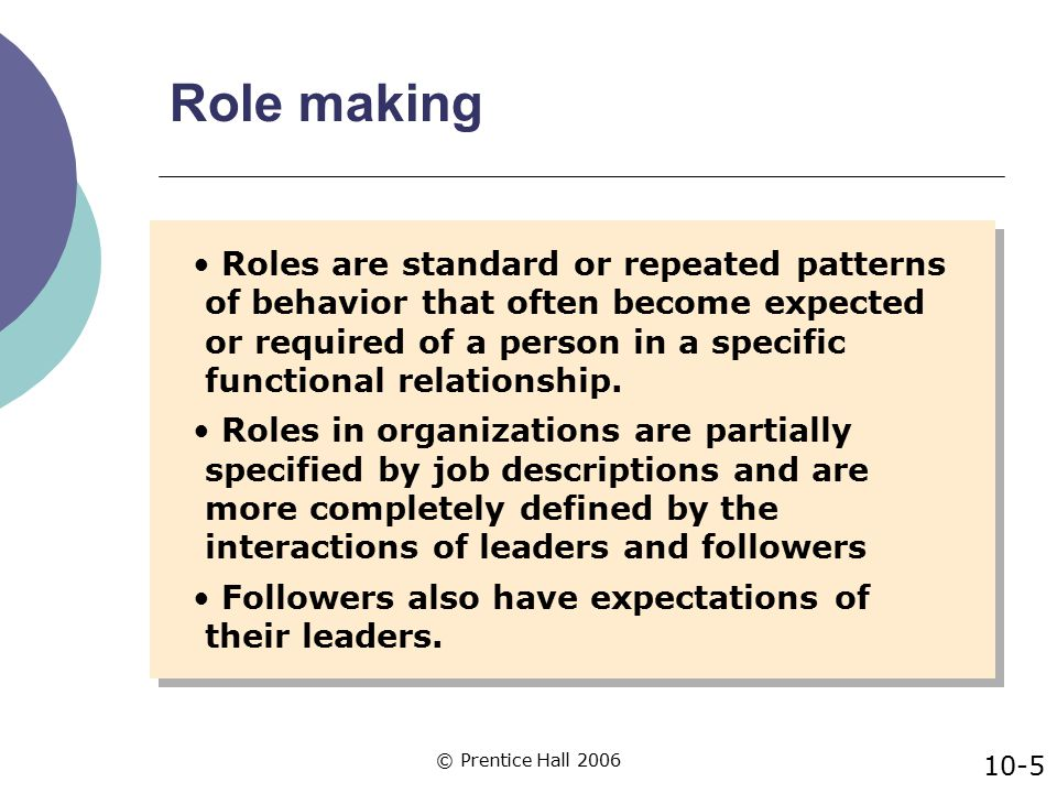 © Prentice Hall 2006 Situational Characteristics that Substitute for Leader Exchange Behaviors Job redesign approaches intended to create satisfaction, commitment and motivation among non-management employees combined with goal setting 10-16