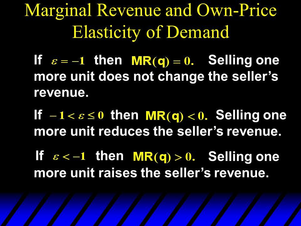 Selling one more unit raises the seller's revenue.