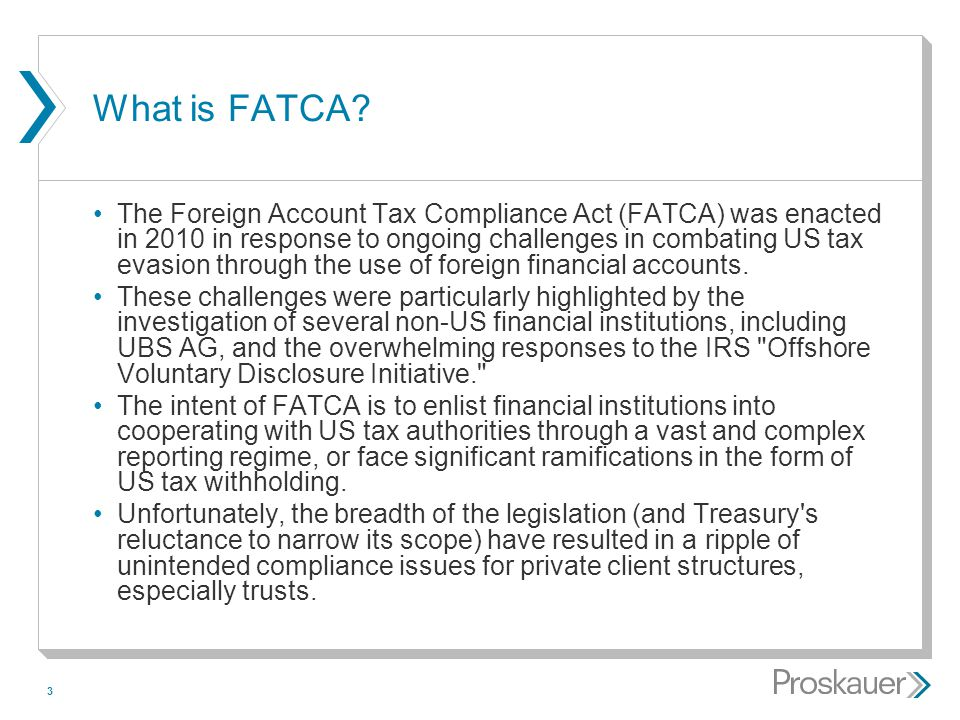 4 What is FATCA.(cont'd) FATCA created a new Chapter 4 of the Code consisting of:  Section 1471.