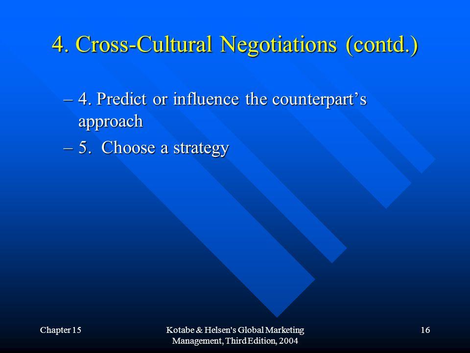 Chapter 15Kotabe & Helsen s Global Marketing Management, Third Edition, 2004 16 4.