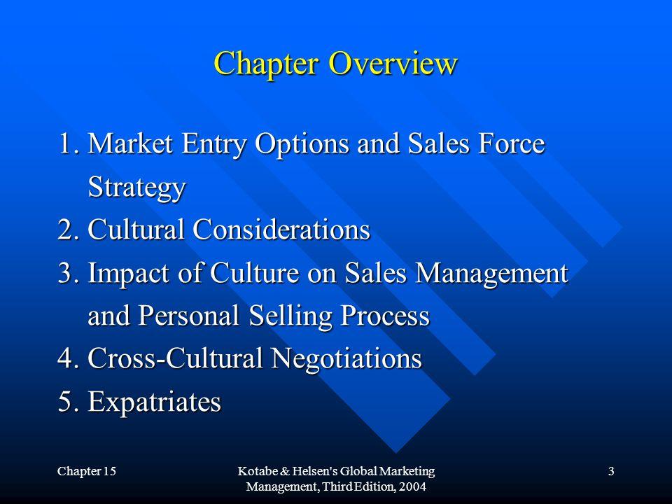Chapter 15Kotabe & Helsen s Global Marketing Management, Third Edition, 2004 14 4.