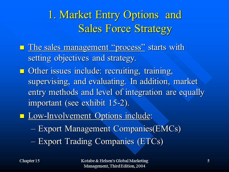 Chapter 15Kotabe & Helsen s Global Marketing Management, Third Edition, 2004 6 1.
