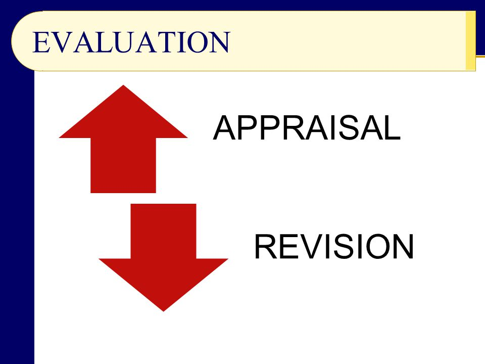 EVALUATION APPRAISAL REVISION