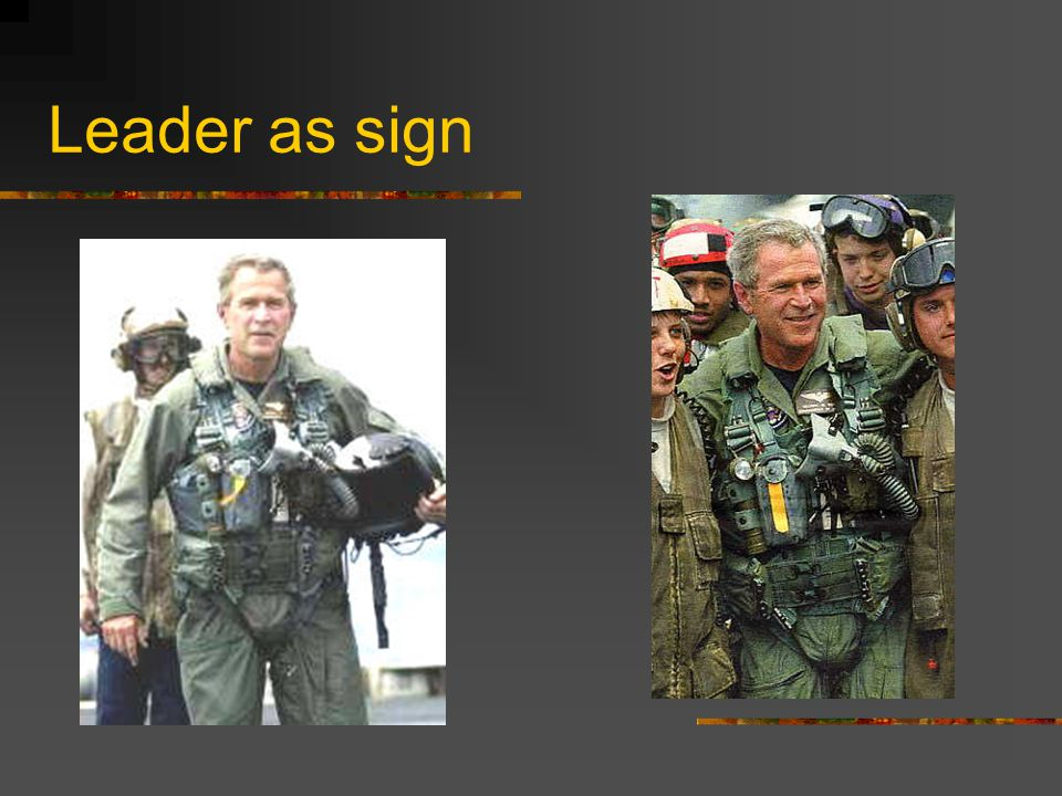 Leader as sign
