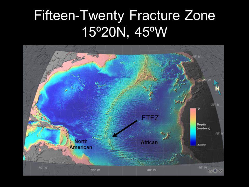 Fifteen-Twenty Fracture Zone 15º20N, 45ºW FTFZ North American African