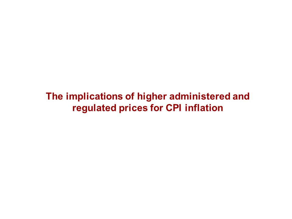 The implications of higher administered and regulated prices for CPI inflation