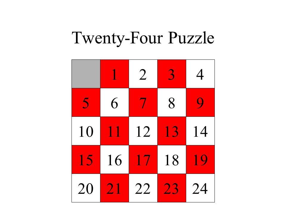 Twenty-Four Puzzle 1234 56789 1011121314 1516171819 2021222324