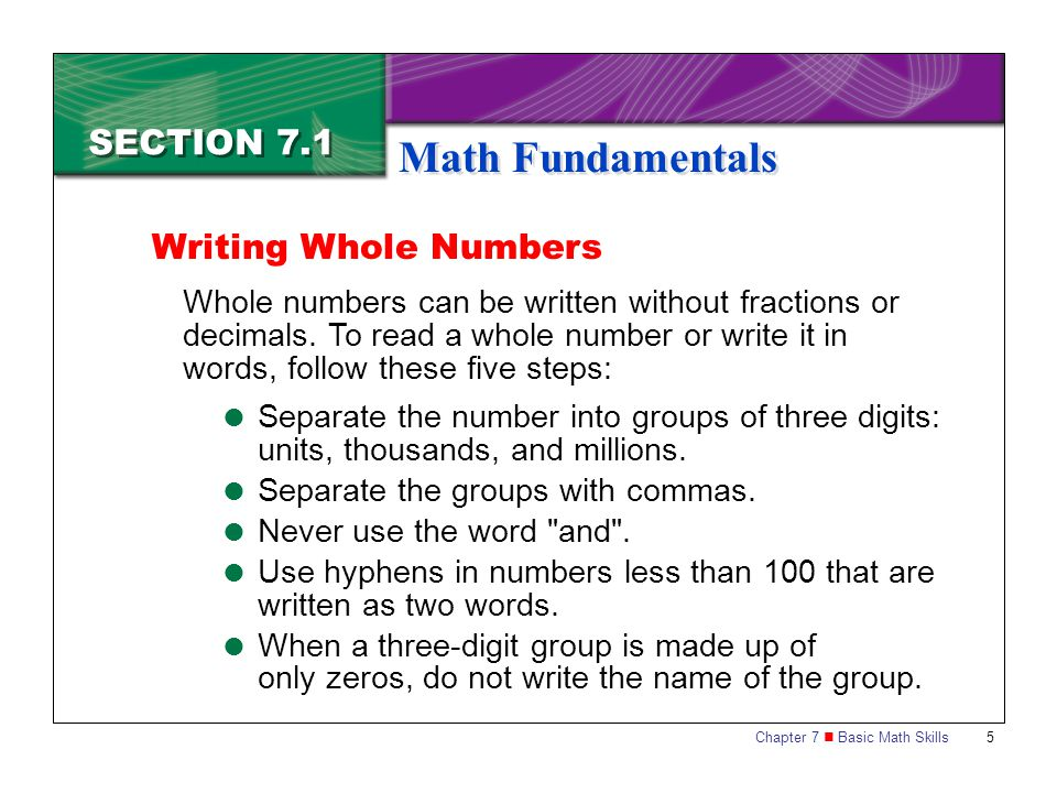 Chapter 7 Basic Math Skills 16 Marketing Essentials End of Section 7.1
