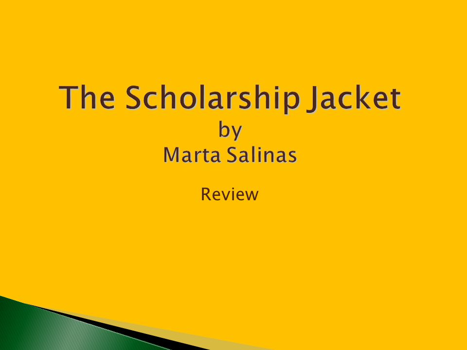 1.What is the scholarship jacket.