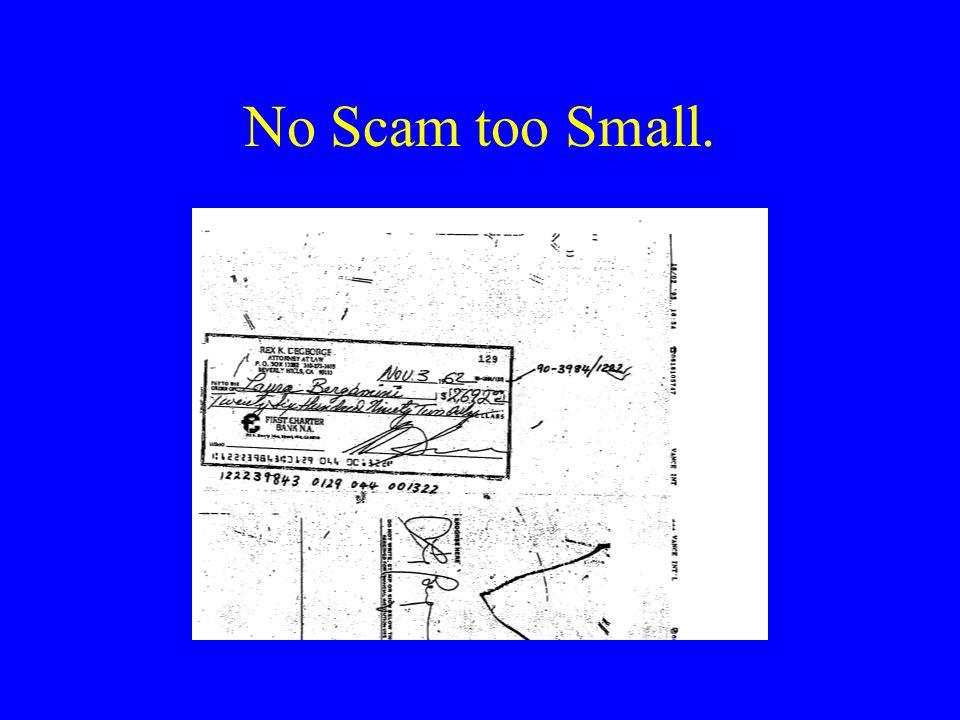 No Scam too Small.