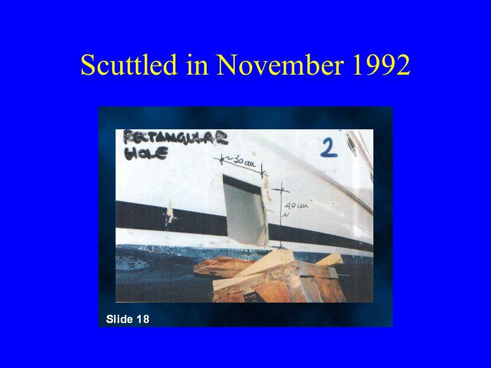 Scuttled in November 1992