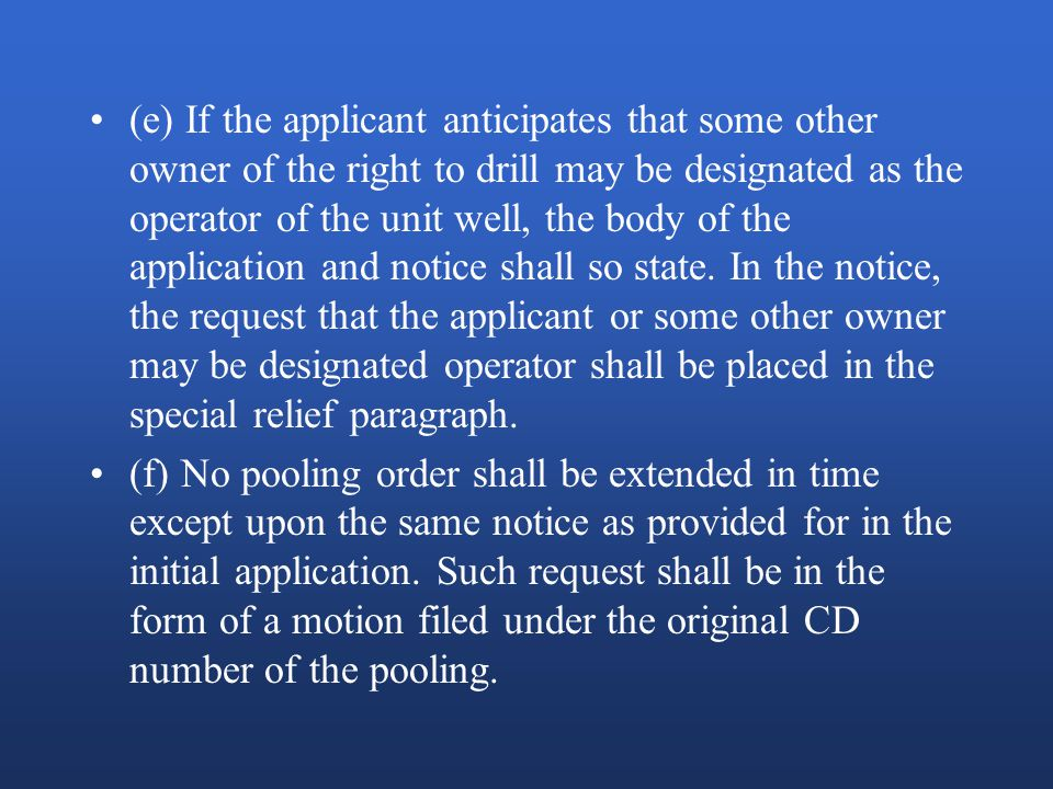 OAC 165:5-15-3: Pooling Orders