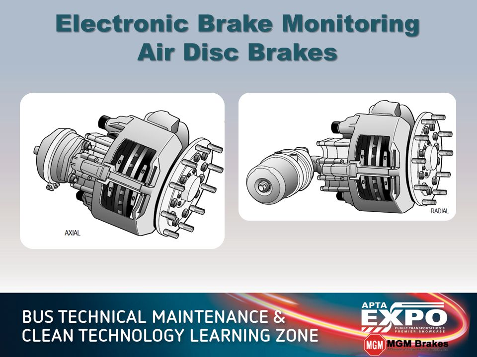 Electronic Brake Monitoring Air Disc Brakes