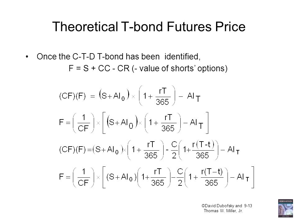 The Options Held by the Short Quality option: can deliver any eligible bond. Timing option: can deliver on any day of the delivery month. Wild card op
