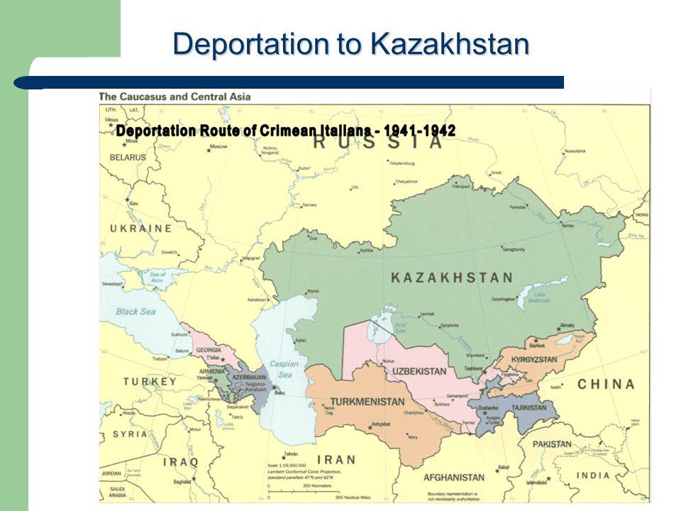 Deportation to Kazakhstan
