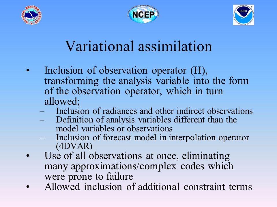 Satellite observations Future Platforms EOS-PM (AIRS, AMSU-A, HSB, MODIS) GIFTS (IR sounder) DMSP (SSM/IS) NPP(CrIS, ATMS, VIIRS) NPOESS(CMIS, CrIS, OMPS, ATMS, VIIRS, ALT, SARSAT) METOP(AVHRR, AMSU, IASI, GOME, ASCATT) Cosmic (GPS radio-occultation) Etc.
