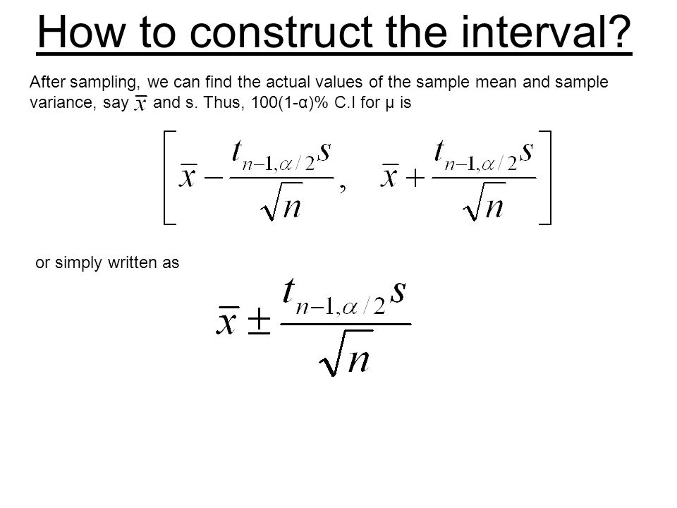 How to construct the interval.