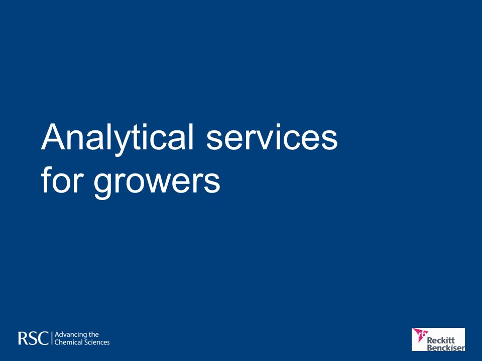 Analytical services for growers