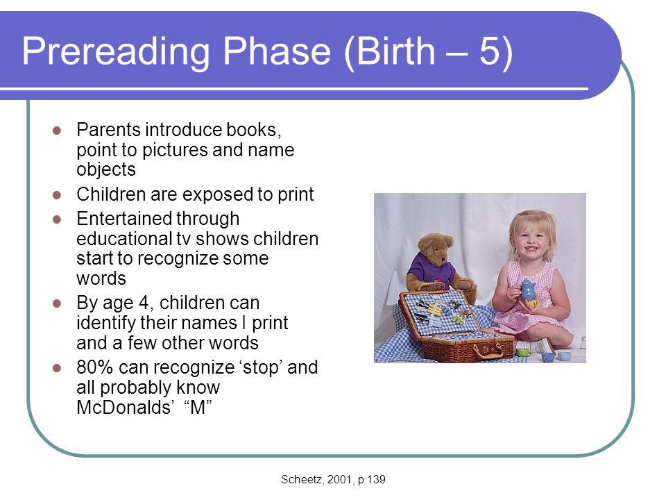Scheetz, 2001, p.150-151 David Schleper's Fifteen Principles Necessary for Reading Success Principal 1.