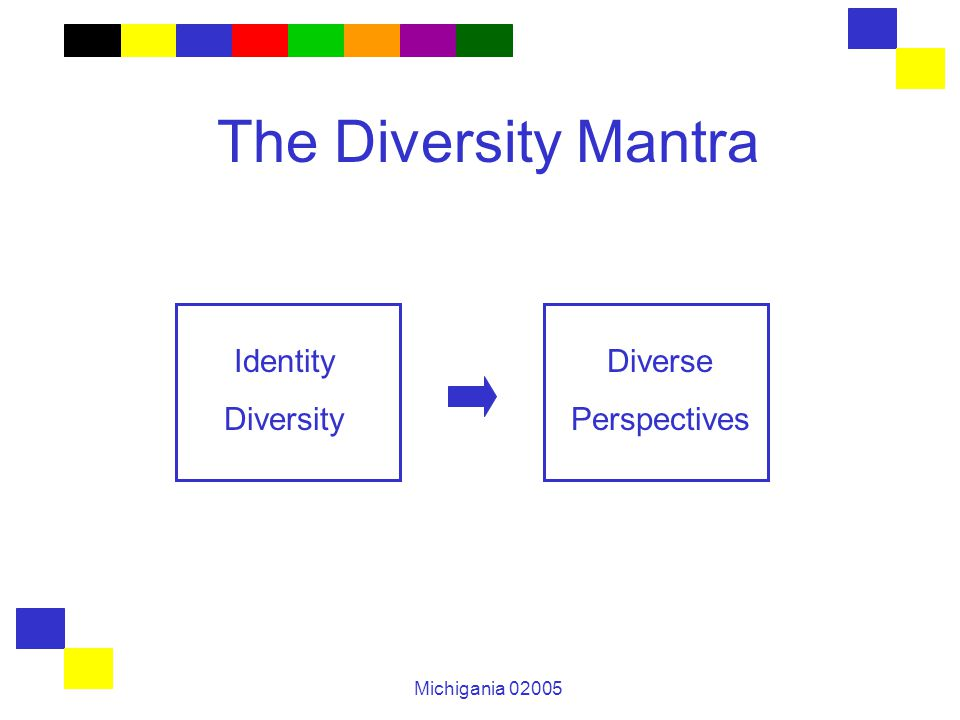 Michigania 02005 The Diversity Mantra Identity Diversity Diverse Perspectives