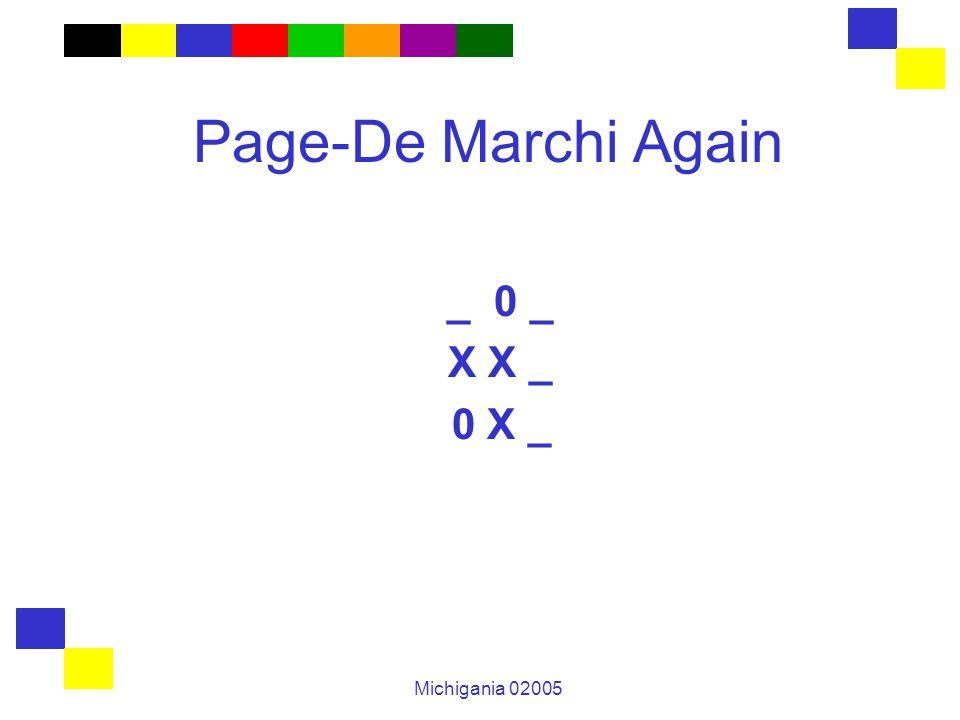 Michigania 02005 Page-De Marchi Again _ 0 _ X X _ 0 X _