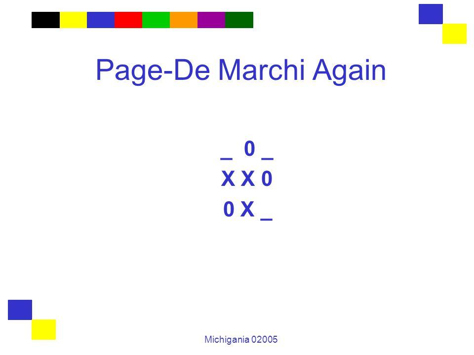 Michigania 02005 Page-De Marchi Again _ 0 _ X X 0 0 X _