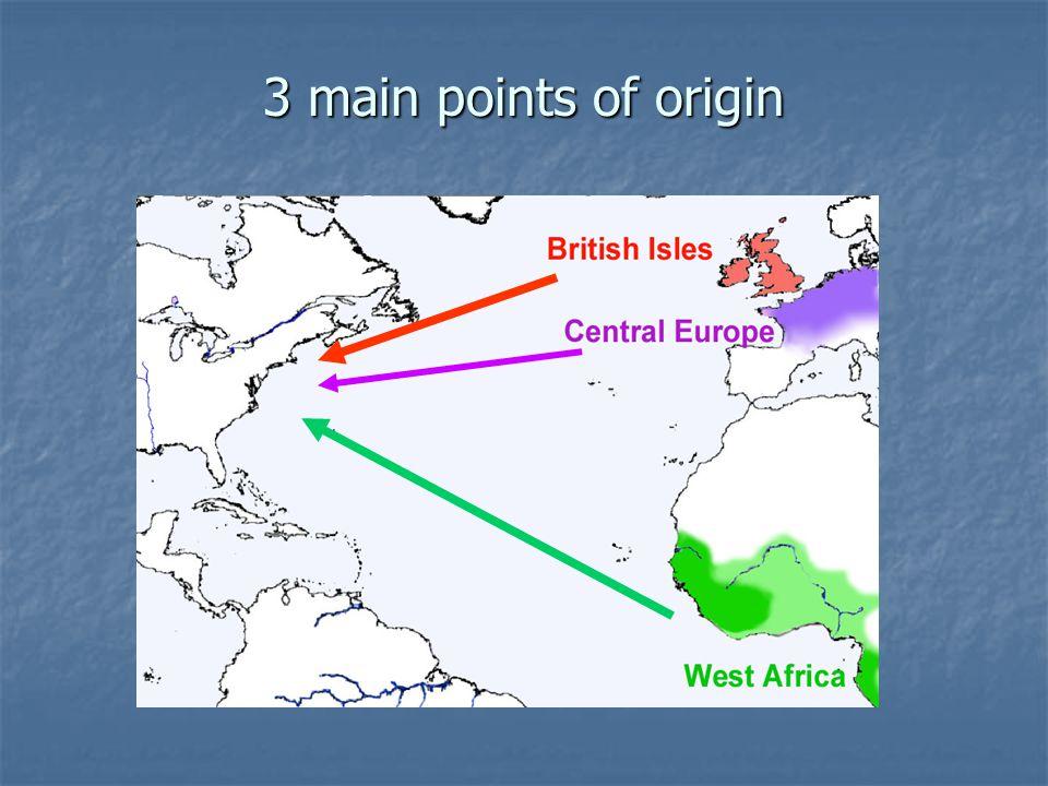 3 main points of origin