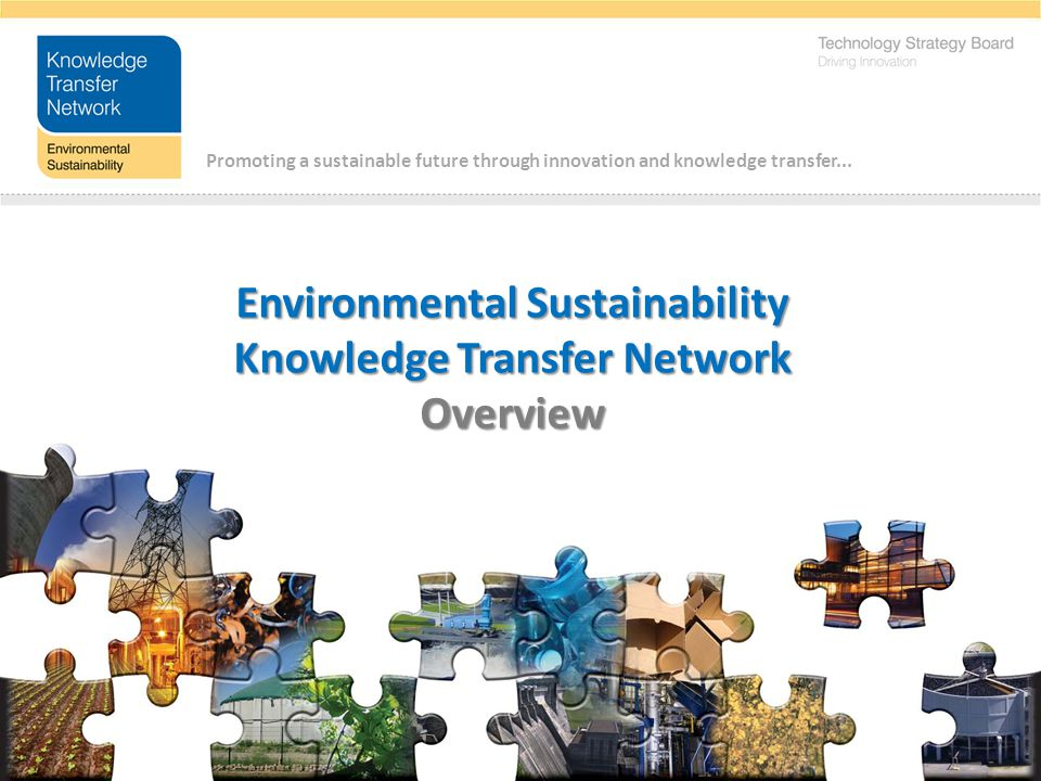Promoting a sustainable future through innovation and knowledge transfer...