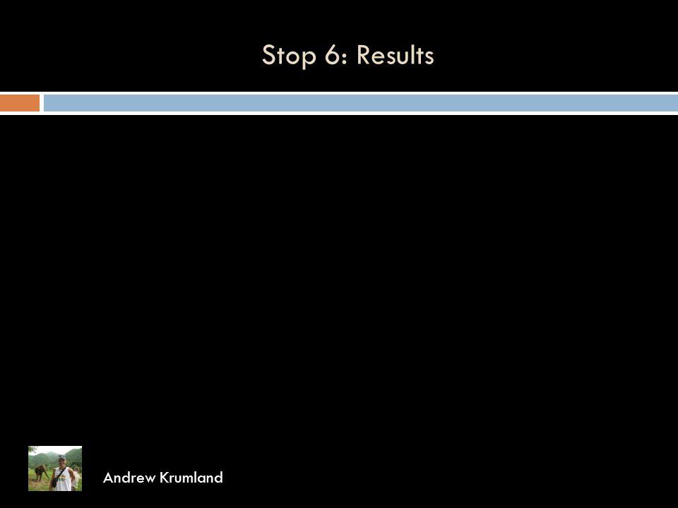 Stop 6: Results Andrew Krumland