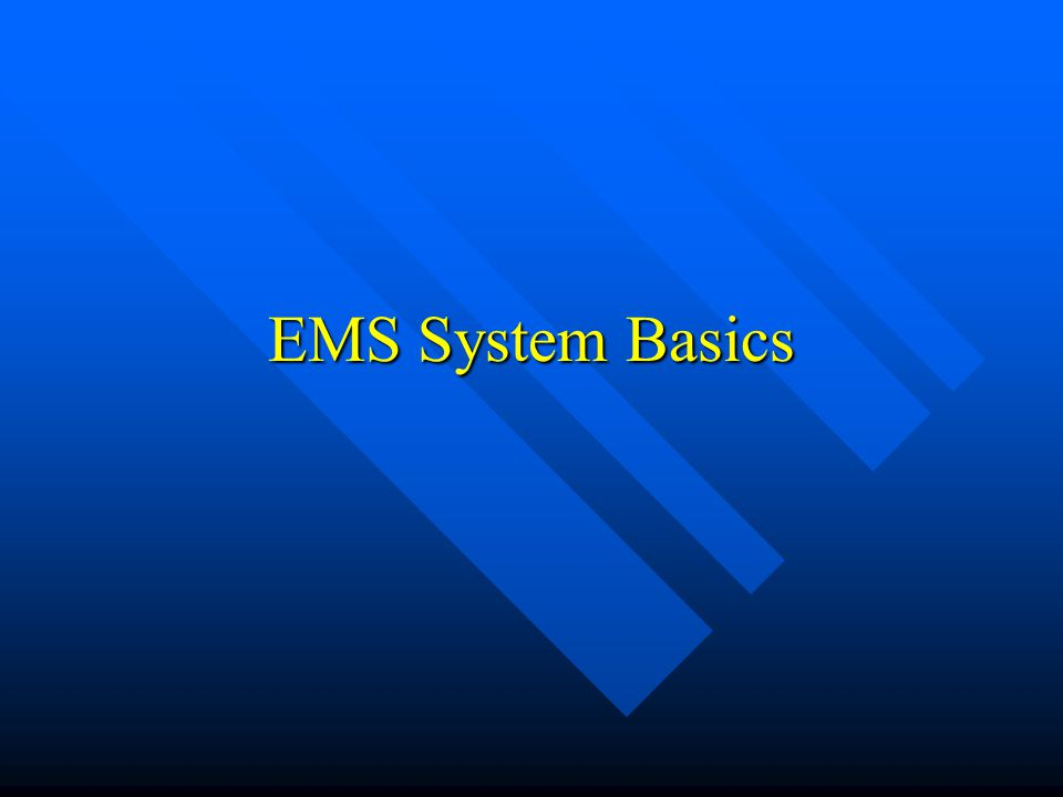 Lecture Overview EMS Basics EMS Basics EMS History EMS History EMS Personnel EMS Personnel National Trends National Trends Local Realities Local Reali