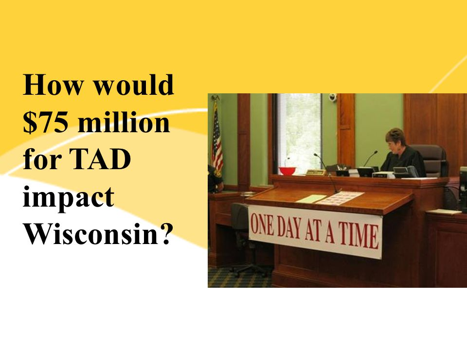 How would $75 million for TAD impact Wisconsin