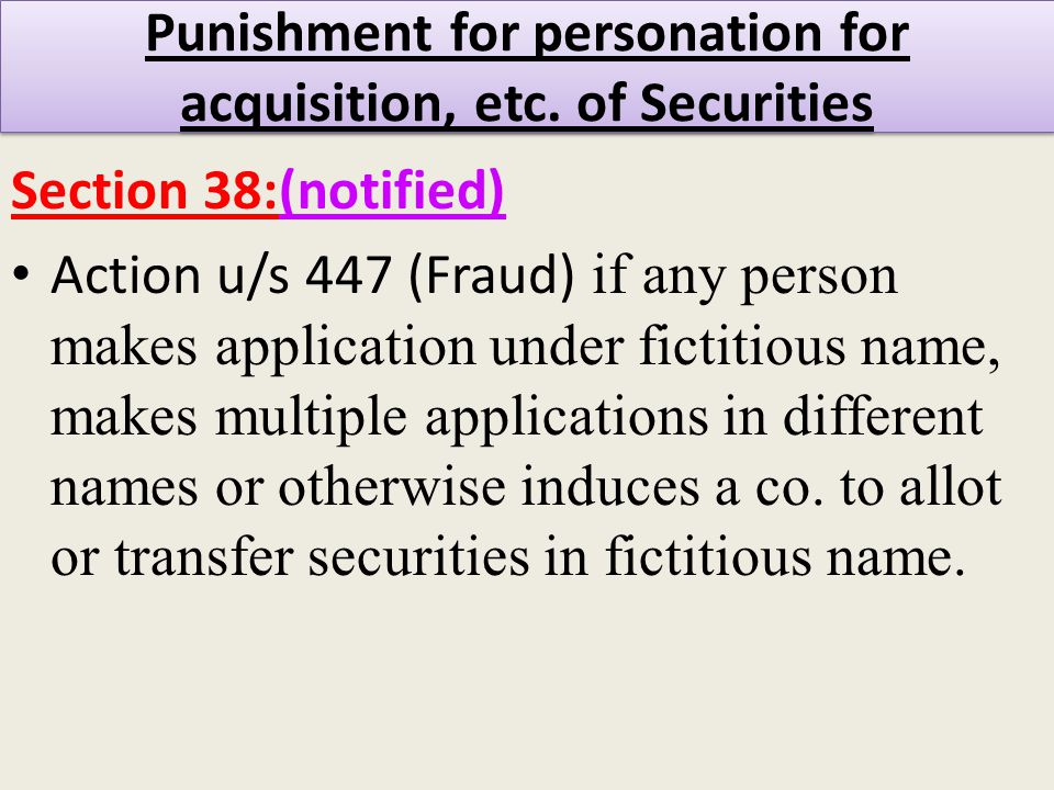 Punishment for personation for acquisition, etc.
