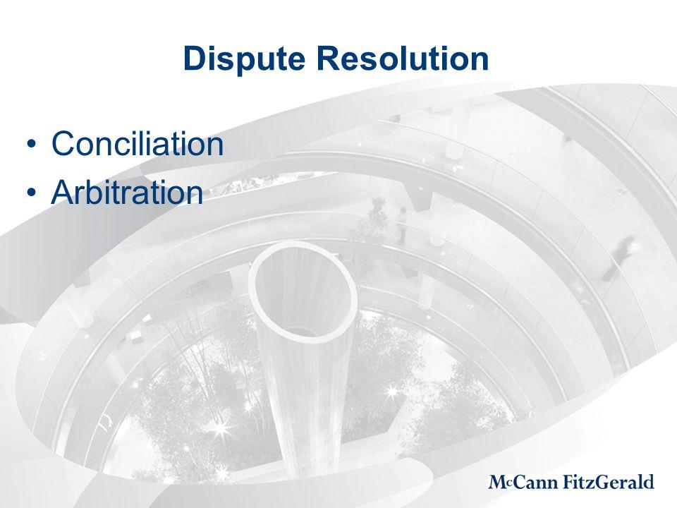 Dispute Resolution Conciliation Arbitration