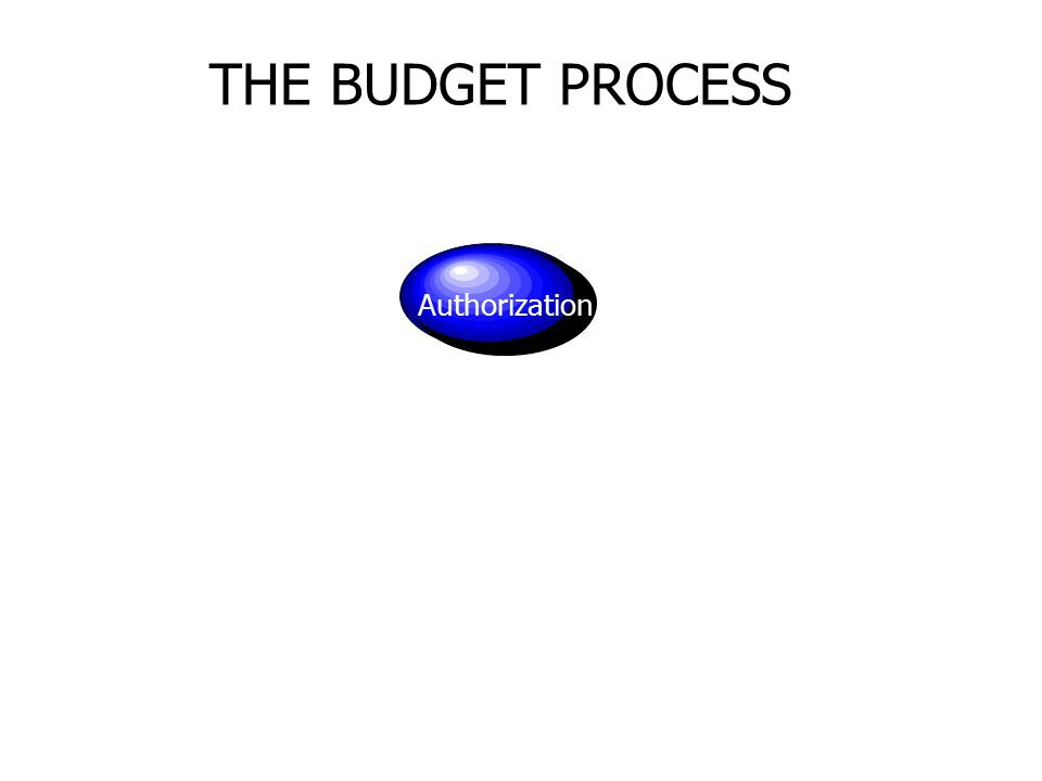 THE BUDGET PROCESS Authorization