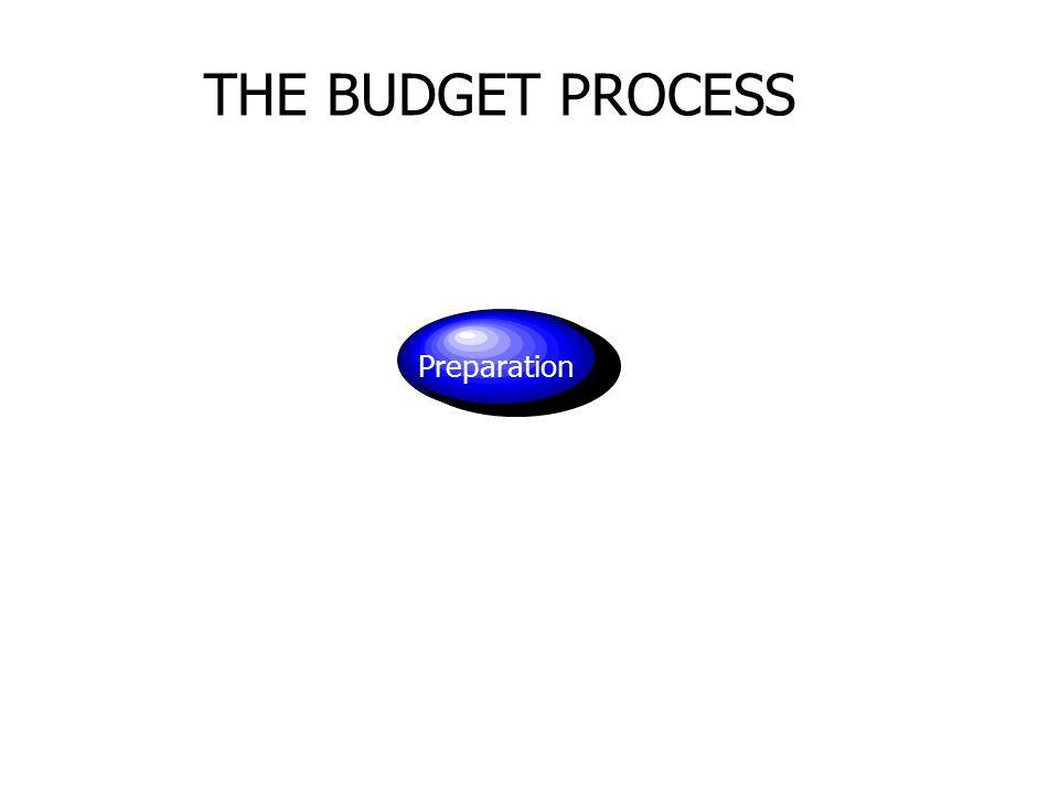 THE BUDGET PROCESS Preparation
