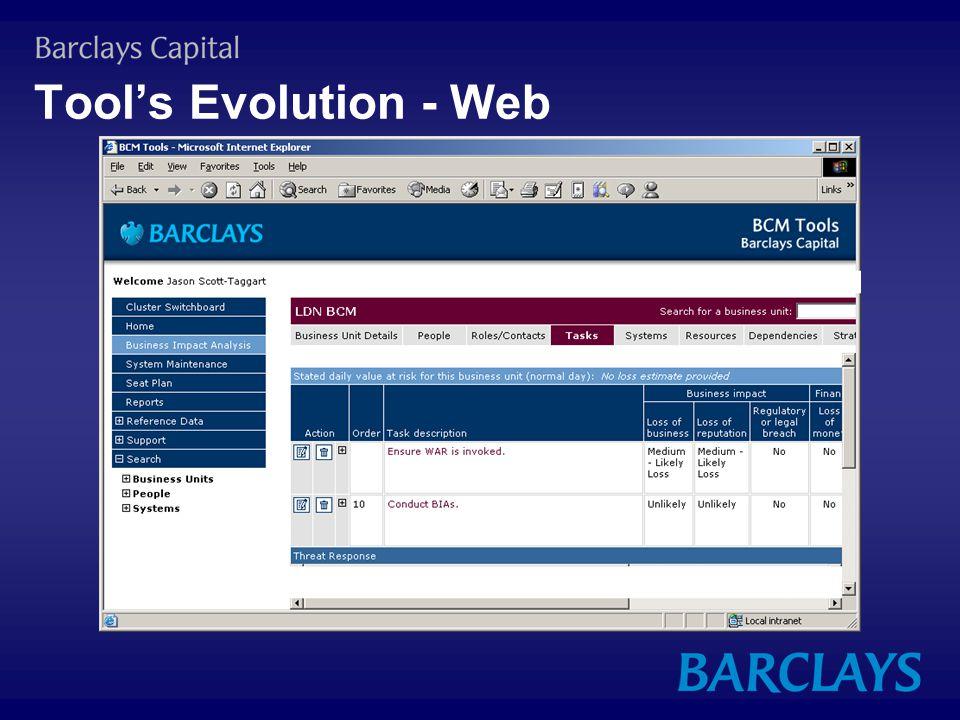 Tool's Evolution - Web