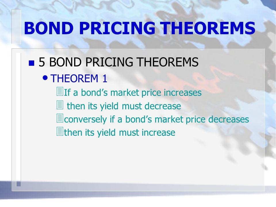 DURATION n DURATION IS A PRICE-RISK INDICATOR FORMULA rewritten where y = the bond's yield to maturity