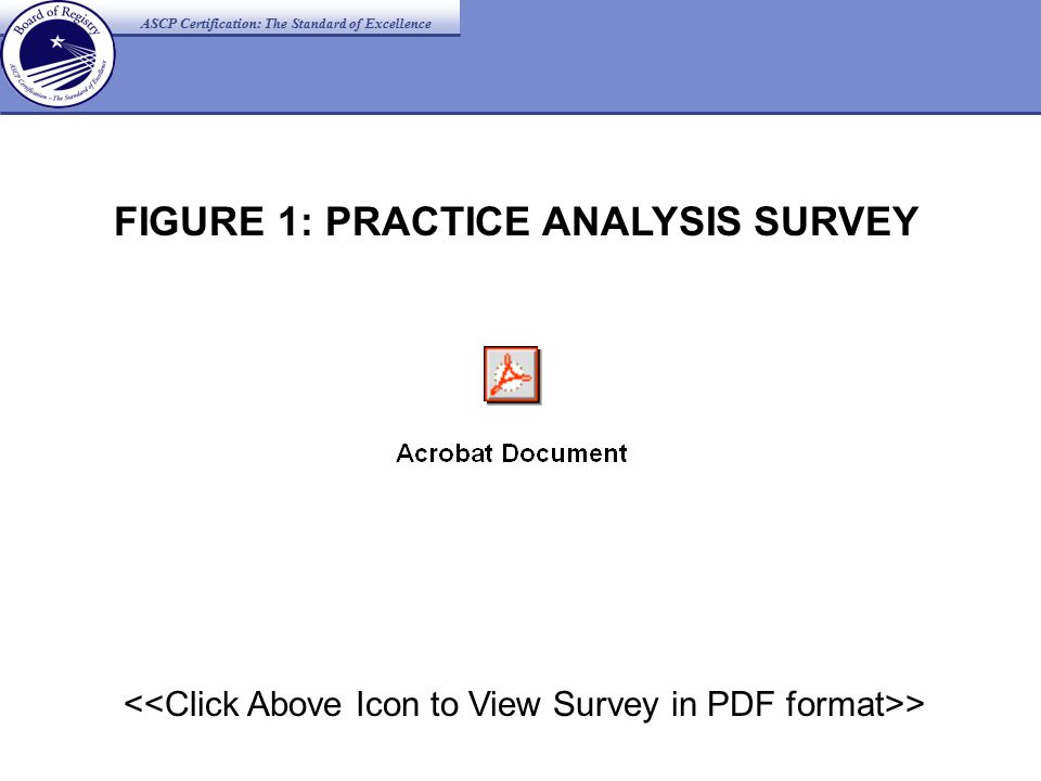 ASCP Certification: The Standard of Excellence > FIGURE 1: PRACTICE ANALYSIS SURVEY