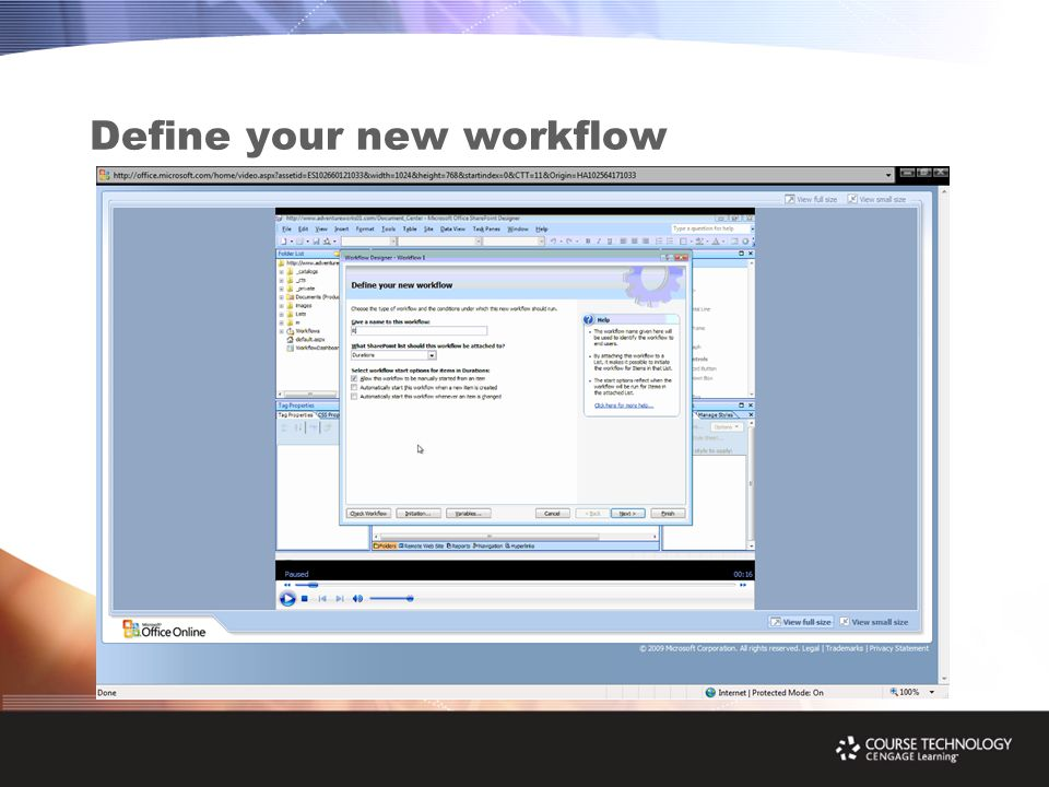 Define your new workflow