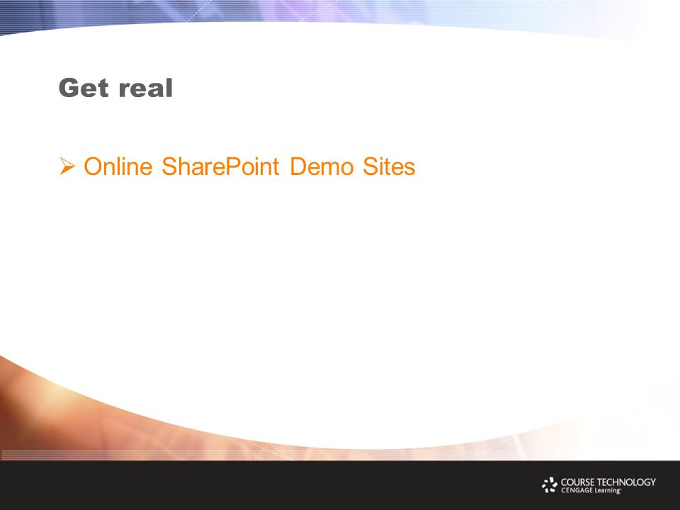 Get real  Online SharePoint Demo Sites