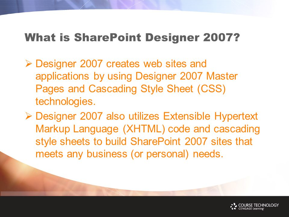 What is SharePoint Designer 2007.