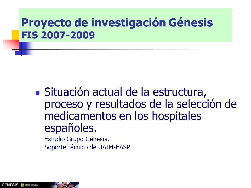 Situación actual de la estructura, proceso y resultados de la selección de medicamentos en los hospitales españoles.