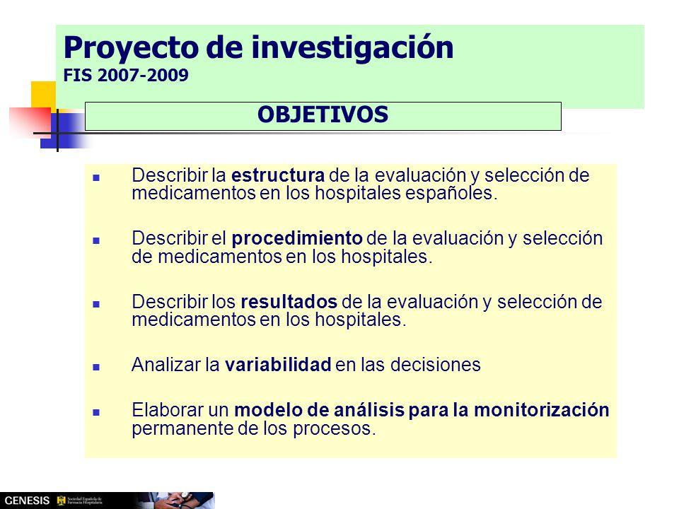 Describir la estructura de la evaluación y selección de medicamentos en los hospitales españoles.