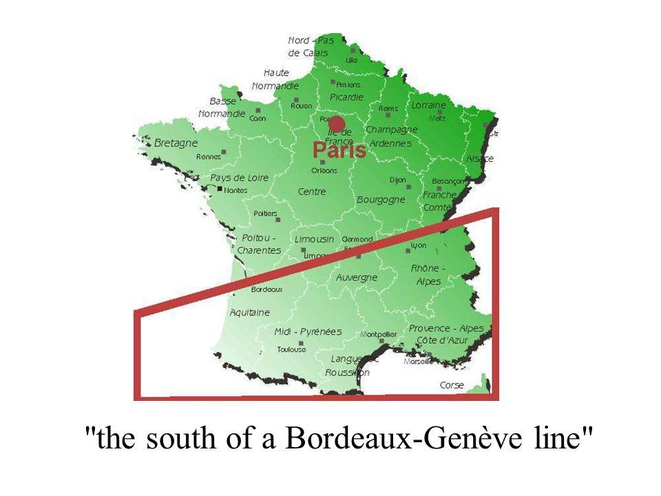 the south of a Bordeaux-Genève line